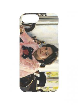 Чехол Для Iphone 7Plus Девочка С Персиками Арт. 7Plus-370 Chocopony. Цвет: розовый, серый