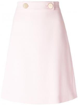 Классическая А-образная юбка Giambattista Valli. Цвет: розовый и фиолетовый