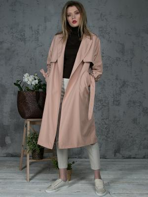 Пальто YLLUZZORE. Цвет: бронзовый
