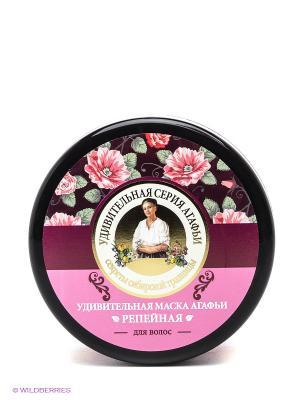 Маска для волос Репейная Рецепты бабушки Агафьи. Цвет: розовый