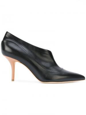Туфли-лодочки с заостренным носком Malone Souliers. Цвет: чёрный