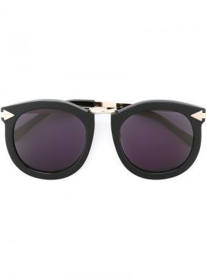 Солнцезащитные очки с круглой оправой Karen Walker Eyewear. Цвет: чёрный