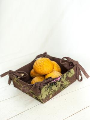 Корзинка для хлеба ARLONI. Цвет: темно-коричневый