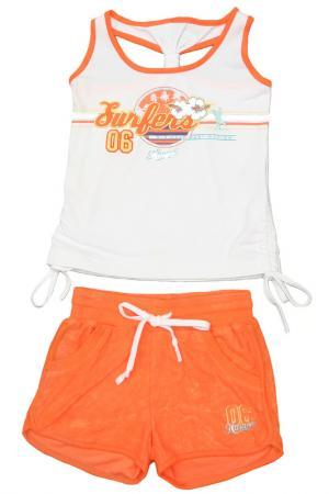 Комплект с шортами Relax Mode. Цвет: оранжевый