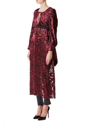 Платье-накидка из вискозы с принтом Junya Watanabe. Цвет: красный