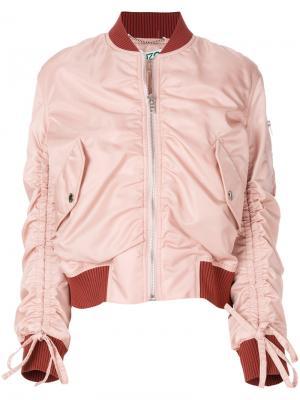 Куртка-бомбер со сборкой Kenzo. Цвет: розовый и фиолетовый