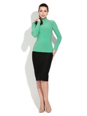 Водолазка Donna Saggia. Цвет: зеленый, светло-зеленый