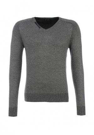 Пуловер New Brams. Цвет: серый