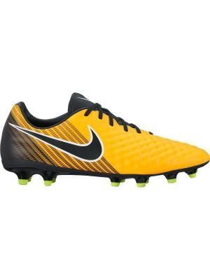 Бутсы MAGISTA ONDA II FG Nike. Цвет: оранжевый, черный