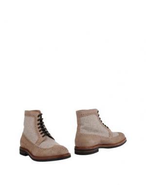 Полусапоги и высокие ботинки BRUNELLO CUCINELLI. Цвет: песочный