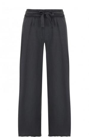 Хлопковые расклешенные брюки с эластичным поясом Deha. Цвет: черный
