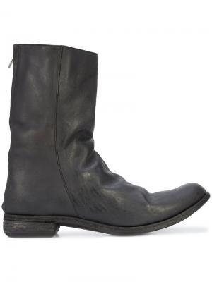 Ботинки с двойной молнией A Diciannoveventitre. Цвет: чёрный
