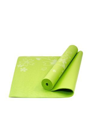 Коврик для йоги STAR FIT FM-102 PVC 173x61x0,5 см, с рисунком, зеленый Starfit. Цвет: зеленый