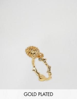 Bill Skinner Кольцо с сосновой шишкой. Цвет: золотой