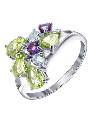 Кольцо Teosa. Цвет: серебристый, фиолетовый, розовый, голубой