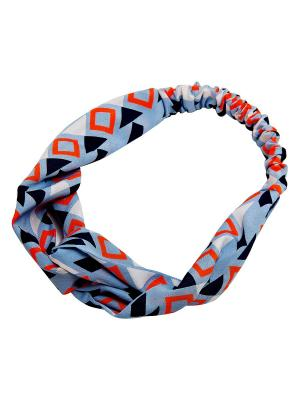 Повязка на голову Kameo-bis. Цвет: голубой, белый, оранжевый