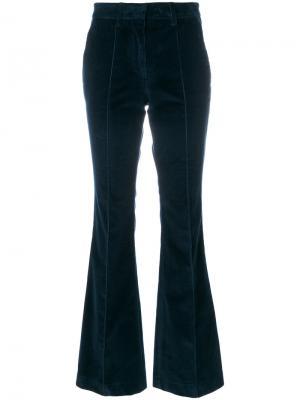 Бархатные брюки клеш Etro. Цвет: синий