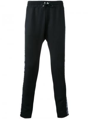 Спортивные брюки кроя слим Selfmade By Gianfranco Villegas. Цвет: чёрный