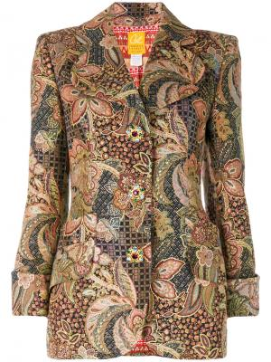 Жаккардовый пиджак с люрексом Christian Lacroix Vintage. Цвет: многоцветный