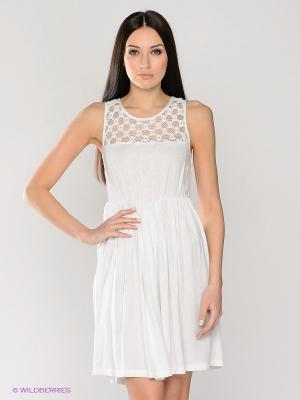 Платье LACE DETAIL DRESS MAVI. Цвет: белый