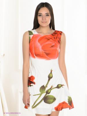 Платье La Reine Blanche. Цвет: белый, зеленый, красный