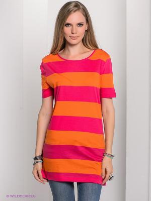 Футболка Bogner Jeans. Цвет: оранжевый, розовый