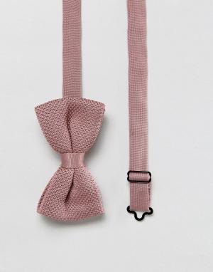 ASOS Розовый вязаный галстук-бабочка. Цвет: розовый