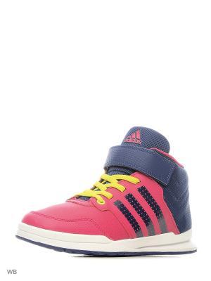Кроссовки дет. спорт. Jan BS 2 mid C  BOPINK/UNIINK/FTWWHT Adidas. Цвет: фиолетовый, синий