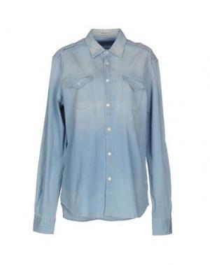 Джинсовая рубашка TRUE NYC.. Цвет: синий