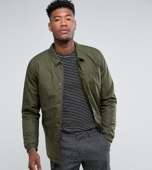 Selected Homme Дутая спортивная куртка TALL. Цвет: зеленый