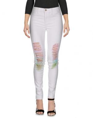 Джинсовые брюки WILDFOX. Цвет: белый