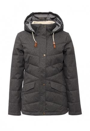 Куртка утепленная Roxy. Цвет: серый