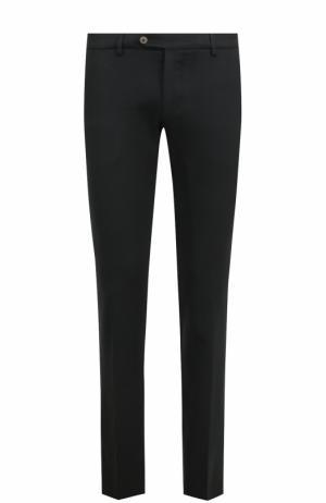 Шерстяные брюки прямого кроя Berwich. Цвет: черный