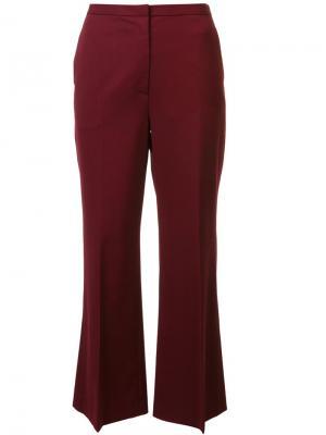 Укороченные расклешенные брюки Rosetta Getty. Цвет: красный