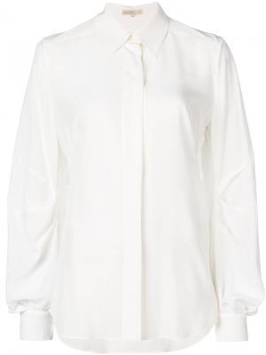 Рубашка с драпировкой Mantu. Цвет: белый