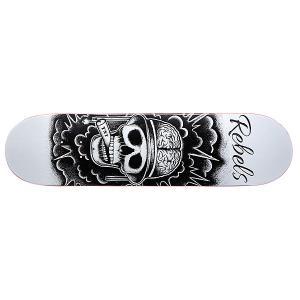Дека для скейтборда  TNT White 31.75 x 8.1 (20.6 см) Rebels. Цвет: черный,белый