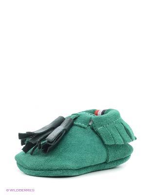 Пинетки U.S. Polo Assn.. Цвет: зеленый
