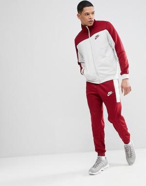 Nike Красный спортивный костюм Poly 861774-677. Цвет: красный