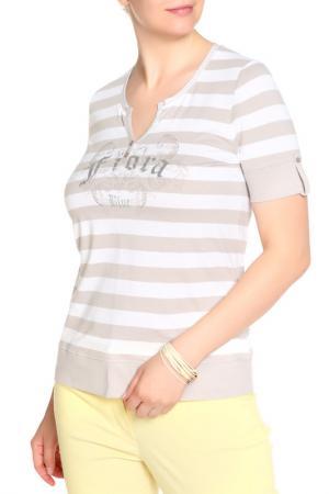 Блуза FIORA BLUE. Цвет: коричневый