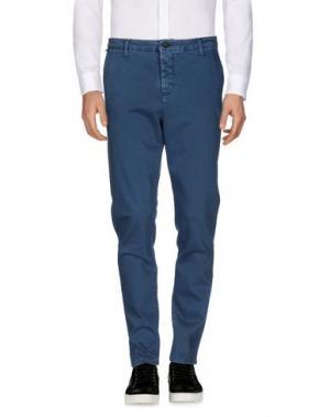Повседневные брюки DERRIÉRE. Цвет: грифельно-синий