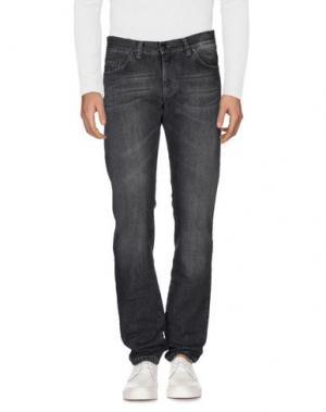 Джинсовые брюки CANTARELLI. Цвет: черный