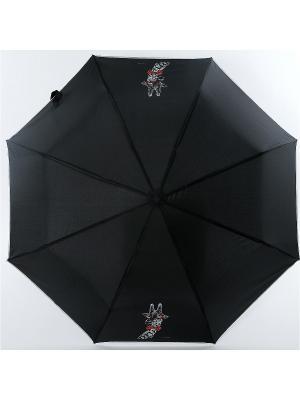 Зонт ArtRain. Цвет: черный, малиновый