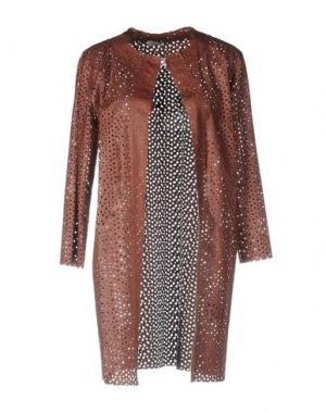 Легкое пальто MARIUCCIA. Цвет: коричневый