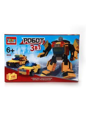 Конструктор Город мастеров Робот+машина.. Цвет: желтый, черный