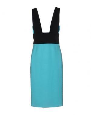 Платье до колена FAUSTO PUGLISI. Цвет: бирюзовый