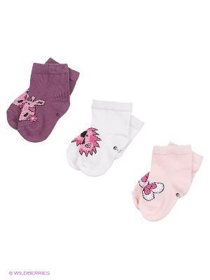 Носки для новорожденных PERA MAYA. Цвет: фиолетовый, розовый, белый