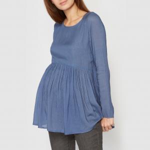 Блузка для периода беременности, длинные рукава R essentiel. Цвет: желтый,синий,экрю