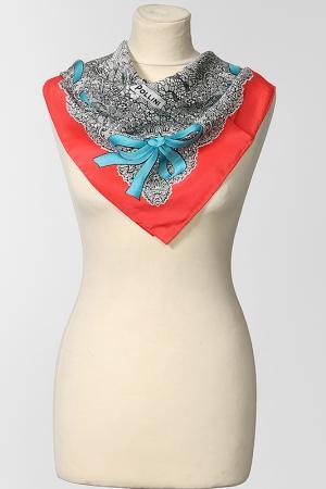 Платок Pollini. Цвет: серый, красный, голубой