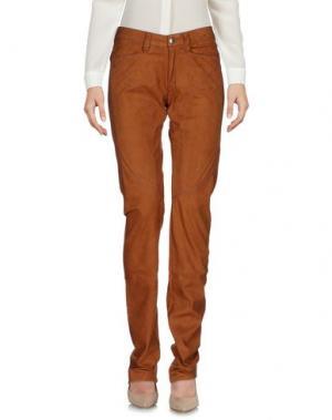 Повседневные брюки 9.2 BY CARLO CHIONNA. Цвет: коричневый