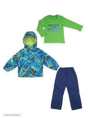 Комплект M&DCollection. Цвет: светло-зеленый, серо-голубой